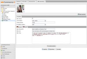 So können die einzelnen Slides konfiguriert werden.