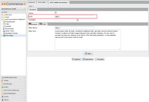 """Sollte Ihr Slider also den Code """"Shop1_Startpage"""" haben, müssen Sie folgenden Code in das Template einbinden:"""