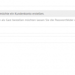 Checkbox in der Registrierung