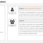 Startseite - Fragenslider / Crossselling
