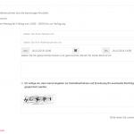 Beispielformular auf Inhaltsseite mit Standard-Captcha