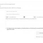 Beispielformular auf Inhaltsseite mit Google ReCaptcha